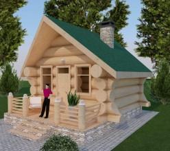 Рубленый дом из кедра